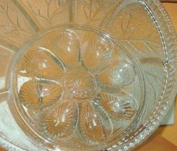 "Indiana Glass Clear Divided Relish & Egg Tray/Plate 12.5"" Depression Ant... - $12.99"