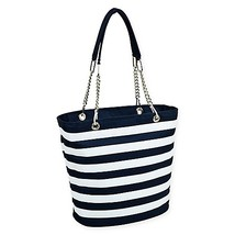 Picnic at Ascot Insulated Fashion Cooler Bag in Blue/White - $32.99