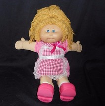 Vintage Cabbage Patch Kids Long Blonde Hair Stuffed Animal Plush Toy Pink Outfit - $32.73