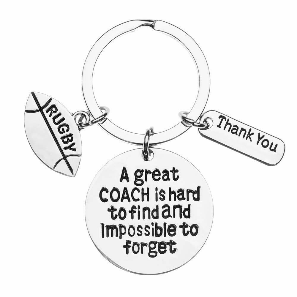 Primary image for Rugby Coach Keychain Rugby Gifts Great Coach is Hard to Find But Impossible