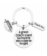 Rugby Coach Keychain Rugby Gifts Great Coach is Hard to Find But Impossi... - $9.99