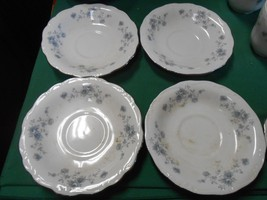 Beautiful Collectible Johann Haviland Bavaria Blue GARLAND-Set Of 4 Saucers - $10.11
