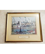 J S Lowry RA Graphic Arts (Industrial Landscape: The Canal) Framed Art V... - $116.88