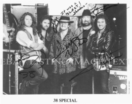38 SPECIAL BAND SIGNED AUTOGRAPHED 8x10 RP PHOTO HOLD ON LOOSELY VAN ZANT - $16.72