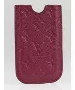 Authentic Louis Vuitton Aurore Monogram Empreinte Leather iPhone 4 4S So... - $294.00