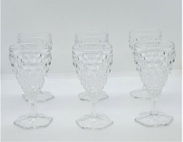 Fostoria American Wine Glass 2.5 oz Cordial Stemmed Glasses Set of 6 - $27.51