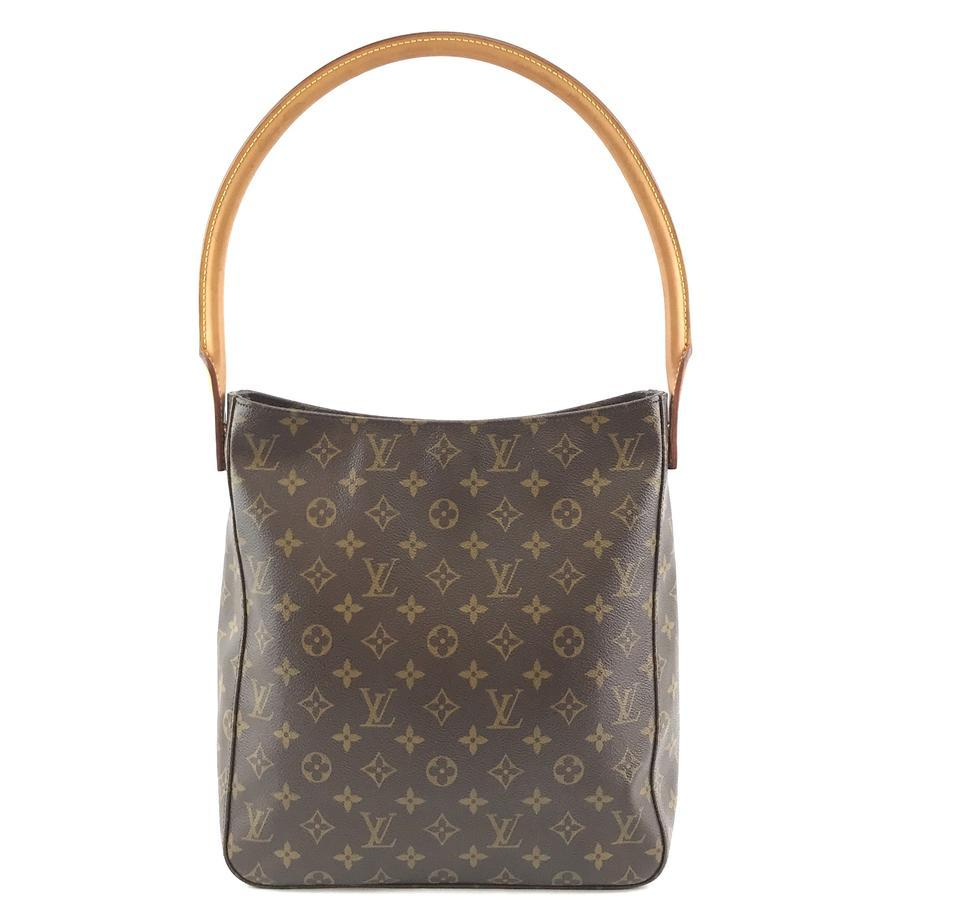 #33576 Louis Vuitton Looping Bucket Gm Tote Brown Monogram Canvas Shoulder Bag image 2