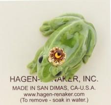 Hagen-Renaker Miniature Ceramic Frog Figurine Birthstone Prince 11 November image 3