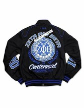 Zeta Phi Beta Sorority 100 YEAR Race Jacket Zeta Phi Beta Black Race Jac... - $140.00