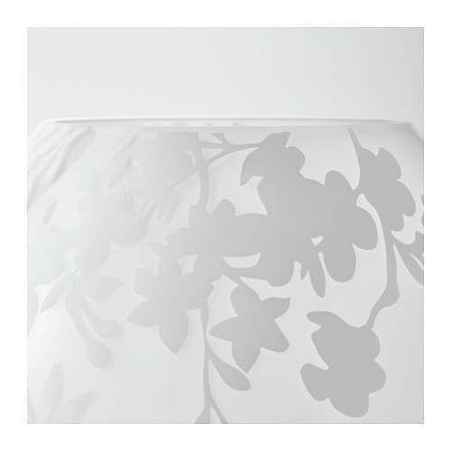 "IKEA KNUBBIG Table lamp, cherry-blossoms white,7"" image 3"