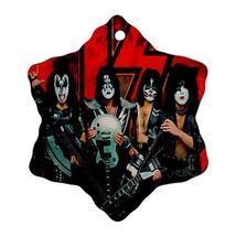 Memorabilia Ornament - Kiss Band Procelain Ornaments (Snowflake) Christmas - $3.49