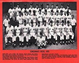 MLB 1975 Cincinnati Reds Big Red Machine Black & White Team Photo 8 X 10... - $5.99