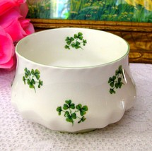 Rosina Green Shamrock Open Sugar Bowl English Bone China Queens Ireland ... - €9,89 EUR