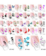 1 Sheet Sell Water Transfer Sticker Nail Art Decals  Temporary Tattoos W... - $2.99