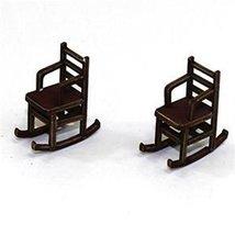 28mm Furniture: Medium Wood Ladder Back Rocking Chair