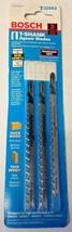 """Bosch T234X3 4-1/2"""" x 8-12 TPI Progressor Wood Cutting T-Shank Jig Saw B... - $2.97"""