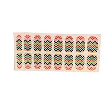 [Set of 2]Easily Apply 12 PCS Artificial Nail Polish Sticker,Colour Ripple