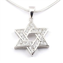 Jewish Star of David Pendant Necklace Silver with Chain - €38,38 EUR