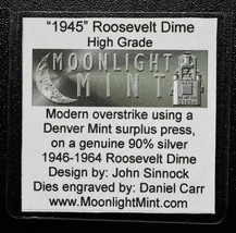 RARE 1945 Token Fantasy Dan Carr Struck On a Roosevelt Dime Coin Lot A 500
