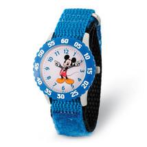 Disney Kids Mickey Mouse Blue Strap Time Teacher Watch - $43.00