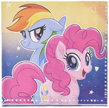 Unique 59452 My Little Pony Flying Ponies Lunch Napkins 65 Inches 16 Ct, Multico - $6.85