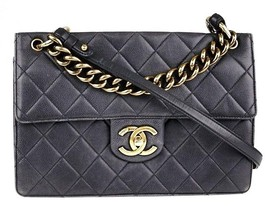 CHANEL Black Quilted Caviar Leather Retro Class Jumbo Flap Bag - $3,789.16 CAD