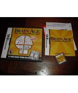 Brain Age: Train Your Brain in Minutes a Day (Nintendo DS, 2006)  - $4.94