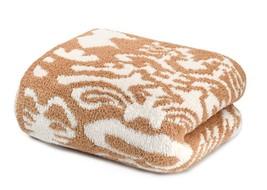 Kashwere Damask Camel and Cream Throw Blanket - €144,02 EUR
