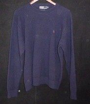 XL Black Label POLO Ralph Lauren Men's 100% LambsWool Navy Blue Sweater - $98.95