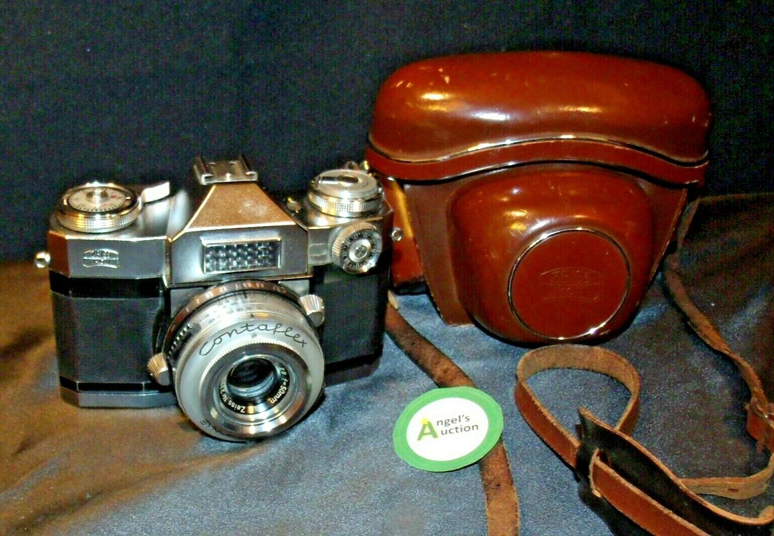 Zeiss Ikon Contaflex Super Camera with hard leather Case AA-192013 Vintage