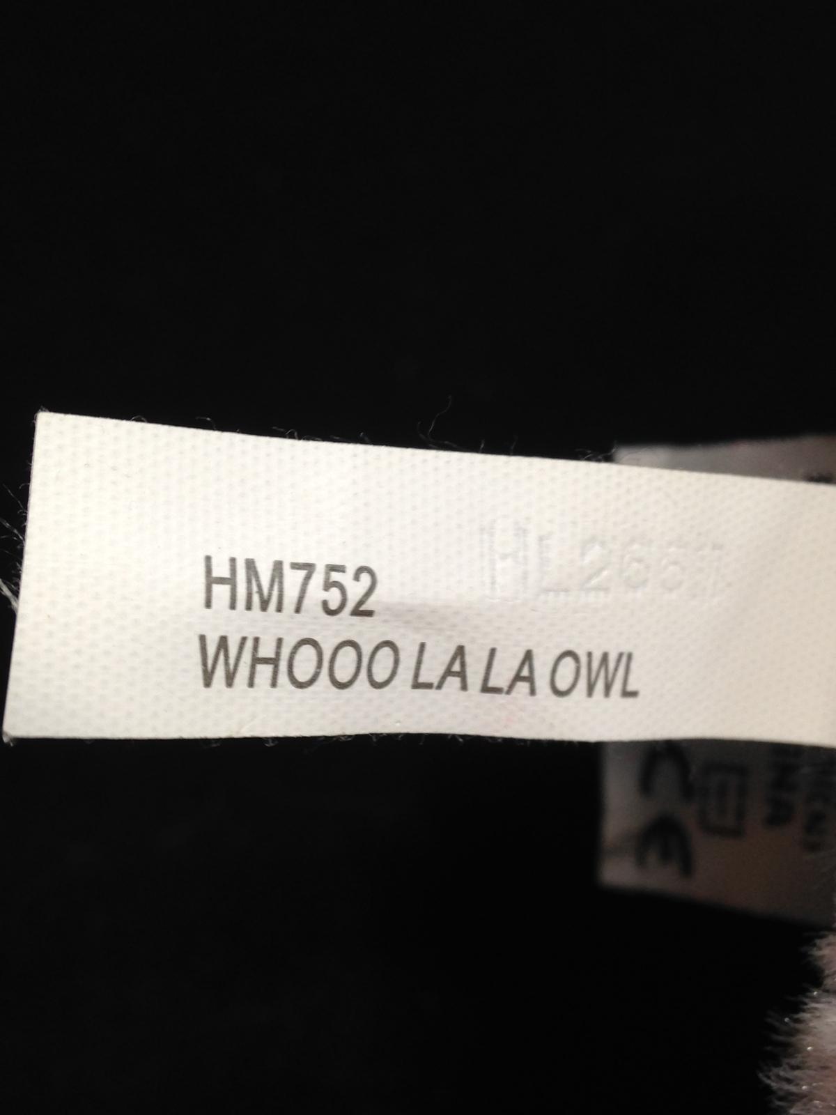 "Ganz Webkinz Whooo La La Owl Pink Plush Iridescent Soft Toy HM752 -NO CODE 8"""