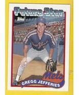 GREGG JEFFERIES 1989 TOPPS #233 FUTURE STAR NEW YORK METS  - £1.76 GBP
