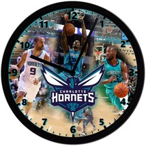 """Charlotte Hornets Homemade 8"""" NBA Wall Clock w/ Battery Included - $23.97"""