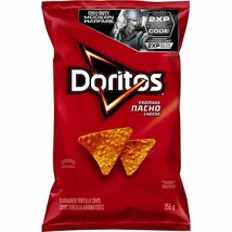 1 Bag Doritos Nacho Cheese TORTILLA CHIPS LARGE 255g FRITO LAY Canada FRESH - £8.77 GBP