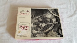 Vintage 2 Piece Party Set Server Spoon + Tray International Deep Silver - $4.94