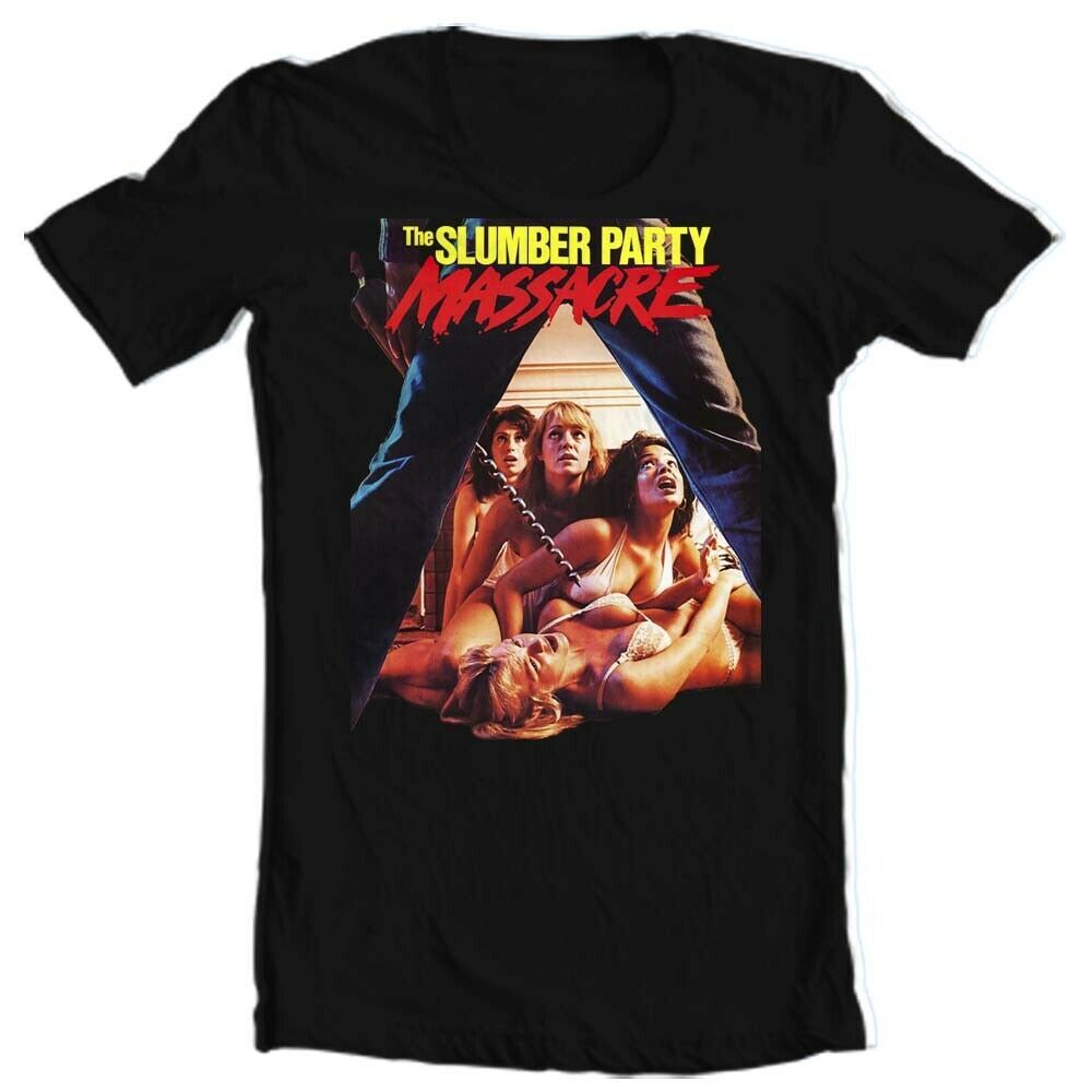 The Slumber Party Massacre T Shirt retro 1980s horror movie graphic tee vintage