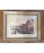 A Waterway in France by Helene Crosscire - Framed - 14 x 11 - $75.99