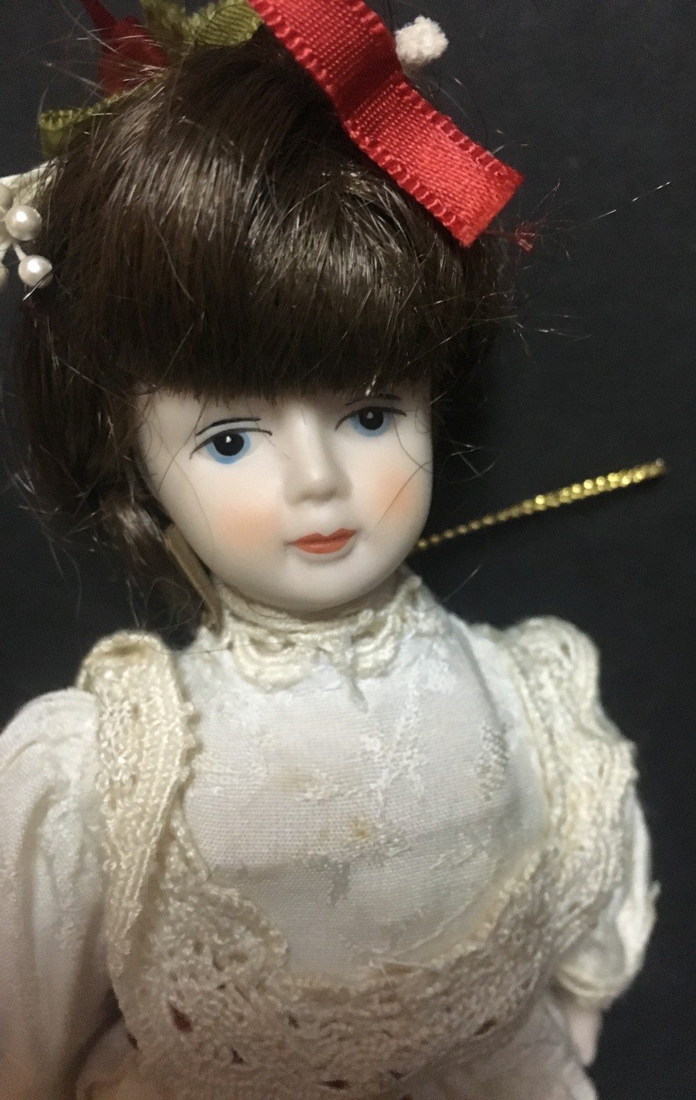 Porcelain Doll Collection Ornaments Lot of 7
