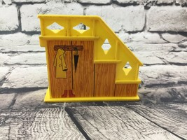 Fisher Price Vintage Little People 997 Family House Staircase Yellow Stairs - $9.89