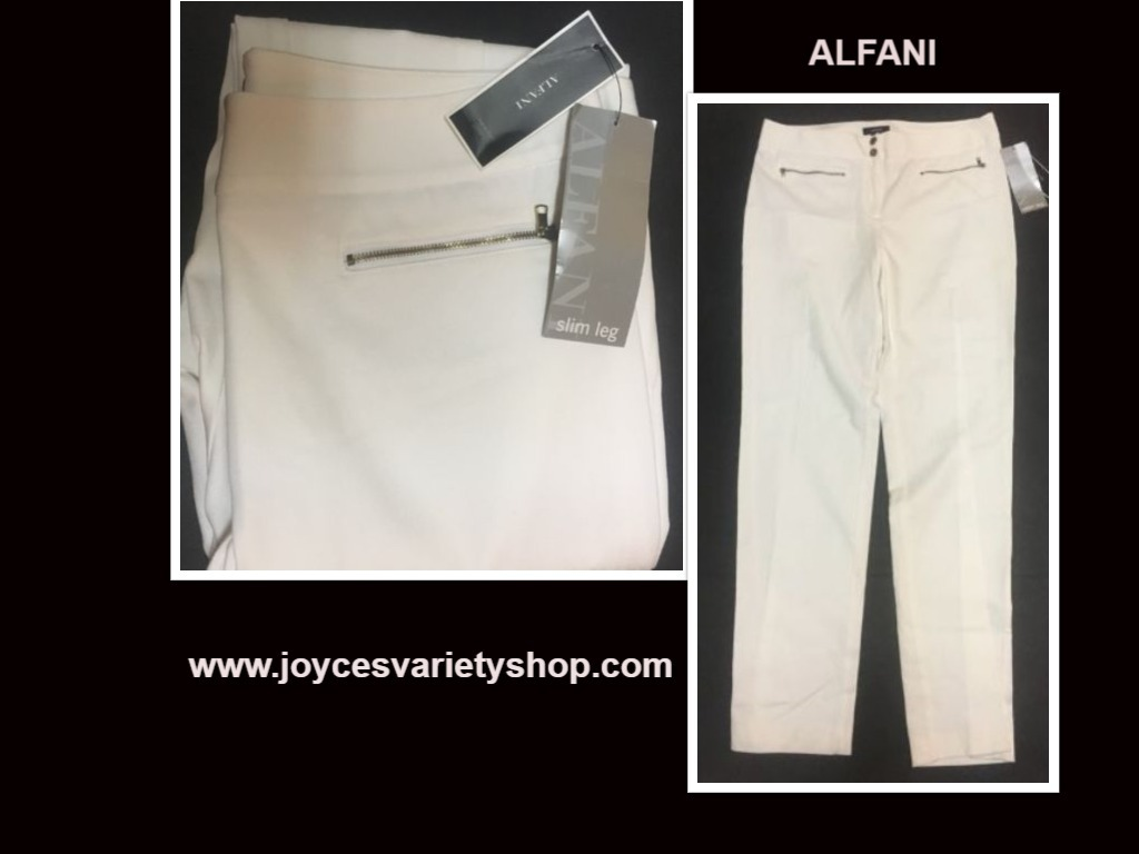 Alfani white pants web collage