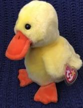 "QUACKERS the Yellow Duck Bird Ty Beanie Buddy MWMT 1998 Large 10"" Plush - $11.87"