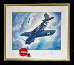 WW II 1943 Curtiss SB2C-1 Hell Diver Coca Cola Litho Signed Print Heaslip - $59.66