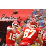 PATRICK MAHOMES AND TRAVIS KELCE SIGNED AUTOGRAPHED 8x10 RP PHOTO KC CHI... - $18.99