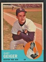 Boston Red Sox Gary Geiger 1963 Topps Baseball Card # 513  - $14.99