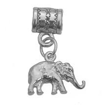 Sterling Silver 925 Elephant Zoo Jewelry European Bead for Charm / Bracelet - $19.57