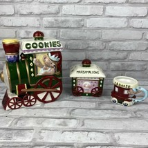 International Bazaar 5 PC Porcelain Bear Train Cookie Jar Car Caboose  - $24.19