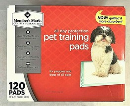120ct Members Mark Pet Training Pads Leak Resistant Liner Quick Dry Tech... - $44.54
