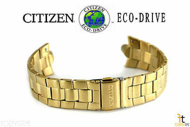 Citizen Eco-Drive E100M-K17551 Gold-Tone Stainless Steel Watch Band E101... - $123.45