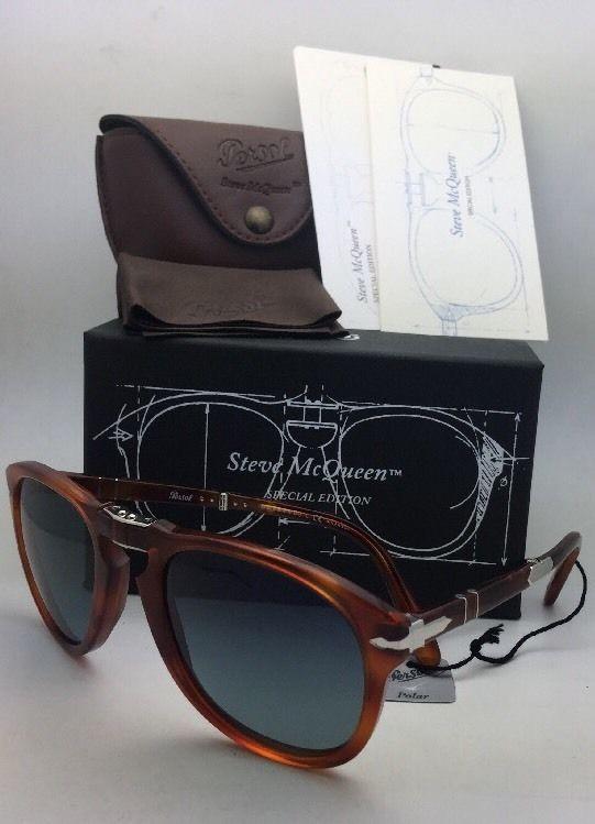 7d38998b0f86 Steve McQueen PERSOL Folding Sunglasses 714-SM 96/S3 52-21 Havana+