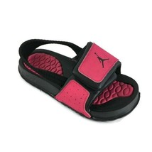 Jordan Hydro Toddlers 487574-609 Black Pink Logo Slide Sandals Baby Size 8C - $18.69